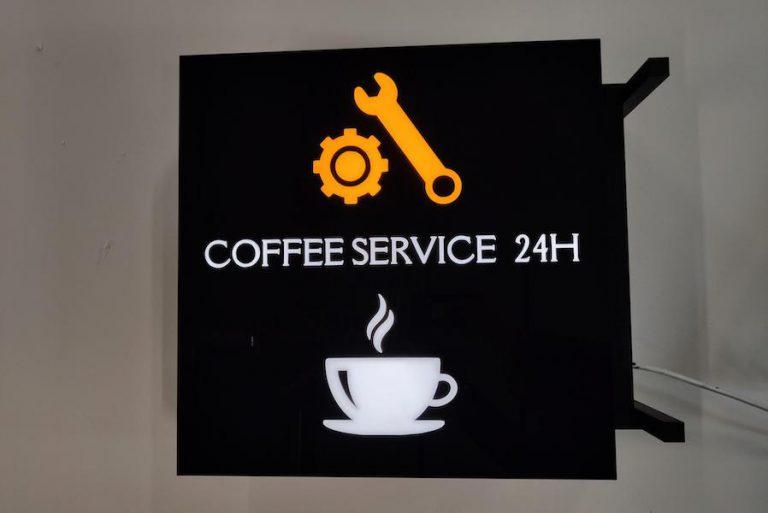 kaseton dibond dwustronny coffee