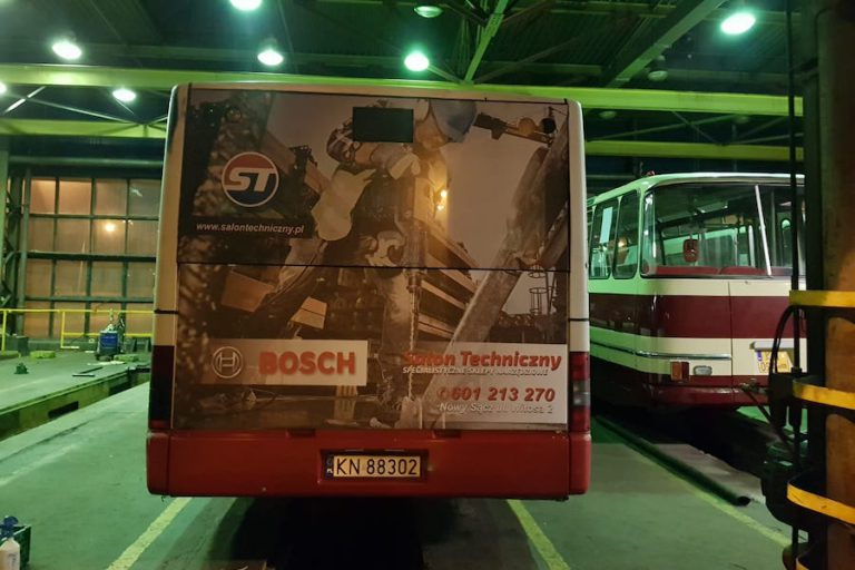 oklejanie aut autobus
