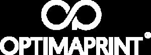 logo optimaprint biale